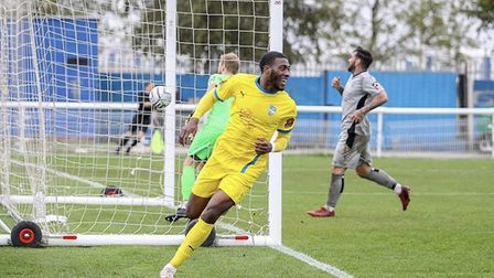 Ipswich Town and Luton are said to be interested in Concord Rangers striker Temi Babalola Picture: C