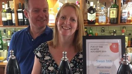 Owners of The Swan Inn in Monks Eleigh, Stephen and Julie Penney, are concerned about the future of