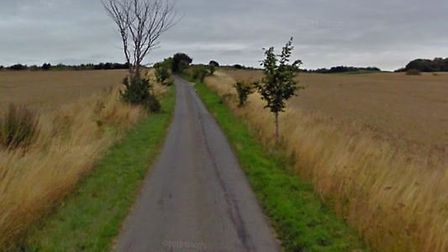 Police are currently at the scene of a collision near Bures, where a car ended up on its roof Picture: GOOGLE MAPS