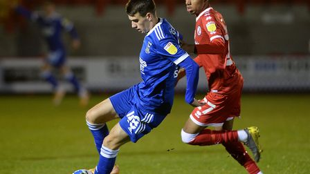 Liam Gibbs on the ball at Crawley Town Picture Pagepix Ltd