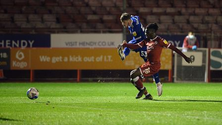 Zac Brown with a second half shot just wide at Crawley Town Picture Pagepix Ltd