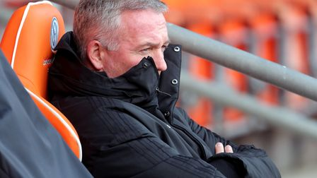 Ipswich Town manager Paul Lambert. It's the league or nothing now. Photo: PA