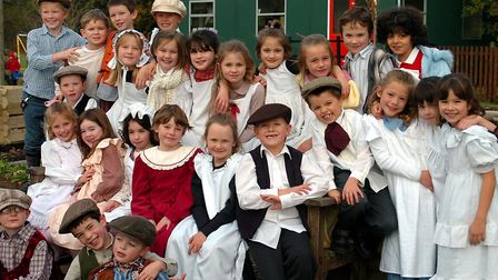 Pupils from Holbrook primary school dressed for their Victorian Day in 2005 Picture: JOHN KERR/ARCH
