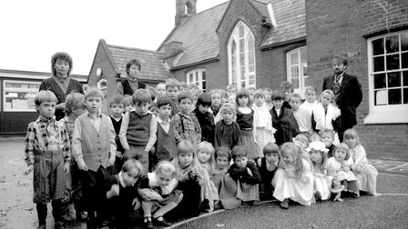 A Victorian day at Elmsett School in November 1990 Picture: ARCHANT