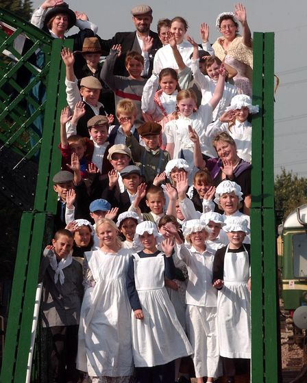 Kesgrave Primary School pupils at a Victorian day at Colne Valley Railway in 2002 Picture: CLIFFORD
