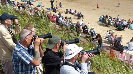 Photographers capturing the action at the 2014 Clacton Airshow Picture: JOHN PARISH