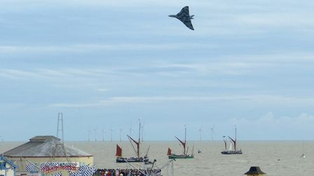 A special moment as a magnificent Vulcan gave a display at Clacton Airshow Picture: JOHN PARISH