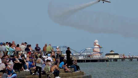 Watching spectacular flights at Clacton Airshow in 2012 Picture: JOHN PARISH
