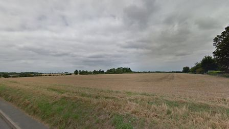 Land off School Road in Elmswell which developers are planning to build 86 homes on. Picture: GOOGLE