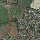 The site for 86 homes in Elmswell. Picture: GOOGLE MAPS