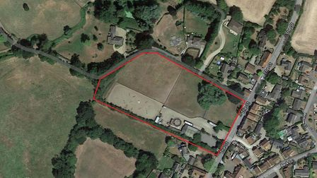 Land off The Street in Badwell Ash, for 21 homes to be built. Picture: GOOGLE MAPS