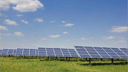A solar panel farm has been proposed for land in Somersham, Suffolk. Picture: CONTRIBUTED