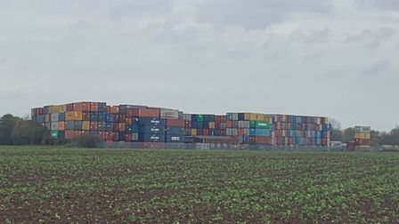 Containers have started arriving at sites around the area including the former Mendlesham airfield. Picture: ARCHANT