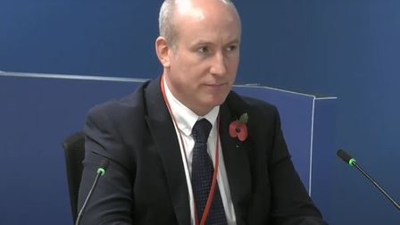 Jonathan Roome, who worked as a sales manager for Celotex between 2014 and 2015, giving evidence to