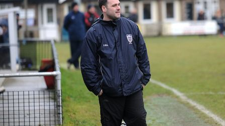Hadleigh United manager, Christian Appleford. Picture: PHIL MORLEY