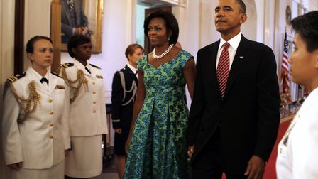 Former first lady, Michelle Obama has worn Vanners silks Picture: REUTERS/LARRY DOWNING