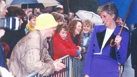 Diana, Princess of Wales, visiting Norwich in November 1990 Picture: ARCHANT