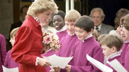 Diana, Princess of Wales, at the 1986 Suffolk Show Picture: ARCHANT