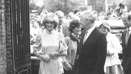 Diana, Princess of Wales in King's Lynn in 1983 Picture: ARCHANT