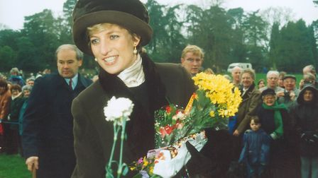 Diana, Princess of Wales at Sandringham on Christmas Day, 1994 Picture: ARCHANT