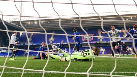 Portsmouth knocked Town out of the FA Cup in controversial fashion Picture: STEVE WALLER