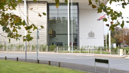 Kier Huxtable is on trial at Ipswich Crown Court accused of attempted murder Picture: CHARLOTTE BOND