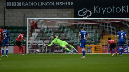 Followed by another: Tomas Holy is beaten from the penalty spot during Ipswich Town's 1-0 loss at Li