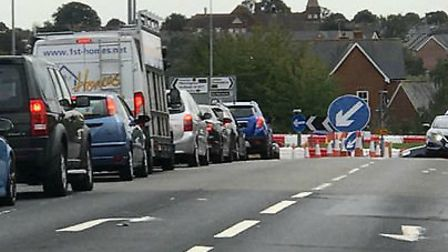 Gridlock in Ipswich Road, Colchester Picture: COLCHESTER VIEWS