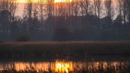 Sunset at Minsmere Picture: FRANCES CRICKMORE/IWITNESS