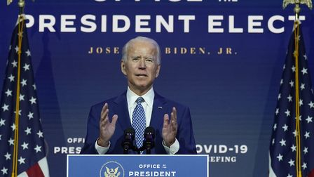 Will the election of Joe Biden spark fresh uncertainty at Mildenhall? Picture: Carolyn Kaster/AP