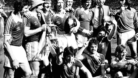 Ipswich Town win the FA Cup in 1978.