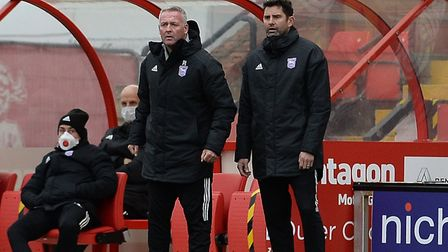 The Ipswich management team are not happy with the officials at Lincoln City. Picture Pagepix