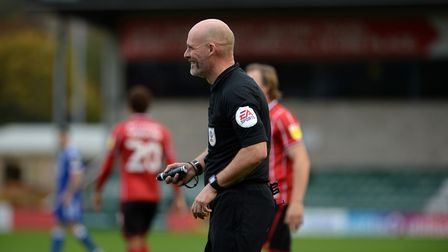 Referee Kevin Johnson at Lincoln City. Picture Pagepix
