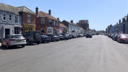 Aldeburgh high street during the coronavirus lockdown, where businessess have been forced to close Picture: ARCHANT