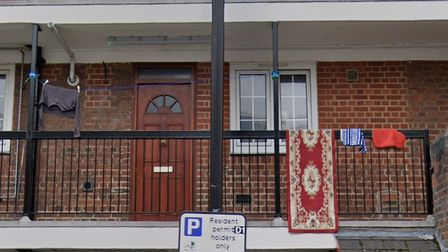 Kay Cargill's first-floor home... riddled with damp. Picture: Google