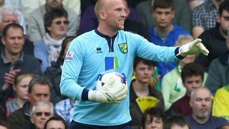 John Ruddy of Norwich during the Barclays Premier League match at Carrow Road, NorwichPicture by Pau