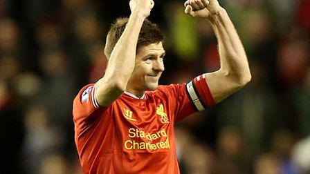 File photo dated 26/03/2014 of Liverpool's Steven Gerrard. PRESS ASSOCIATION Photo. Issue date: Tues