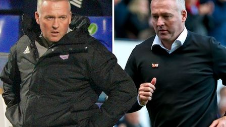 Paul Lambert (pictured right during his first game and left this seasin) has been in charge of Ipswi