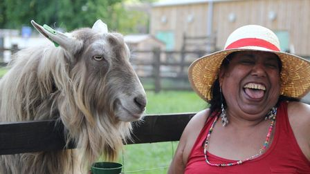 A 'furry animal' therapy project at Stepney city farm in 2015 helping improve lives of the elderly a