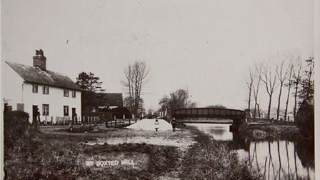 Boxted Bridge pictured at Boxted Mill in an old postcard. Picture: CONTRIBUTED