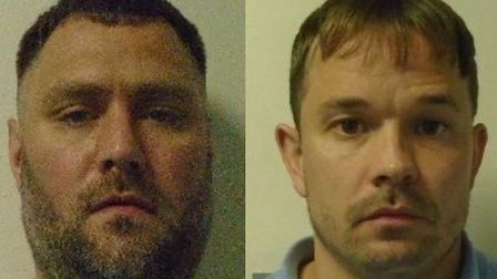 Peter Durman, 35 (left) and Philip Pardoe, 34 (right) have absconded from Hollesley Bay prison. Pict