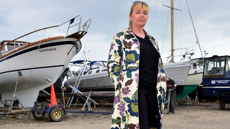 Cath Pickles in Southwold PHOTO: Nick Butcher