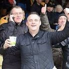 Simon Dobbin, before he was injured, at a Cambridge United match Picture: SUPPLIED BY FAMILY