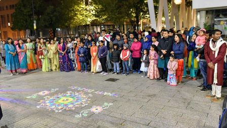 Diwali celebrations at the Barking town hall last year. Picture: Peter Chand.