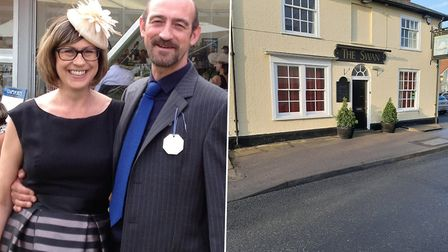 New owners of The Swan pub in Holbrook, Jo Matthews and Adam Climie said they are excited for the new venture. Picture: JO...