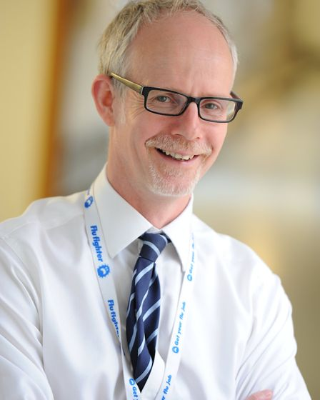 Dr Stephen Dunn, chief executive of West Suffolk NHS Foundation Trust. Picture: WEST SUFFOLK NHS FOUNDATION TRUST