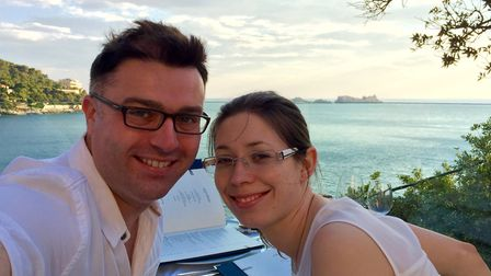 Greg Kingston and his wife Kat on honeymoon in Dubrovnik in 2015. Picture: GREG KINGSTON