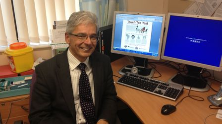 Prof Gerry Rayman. Picture: IPSWICH HOSPITAL
