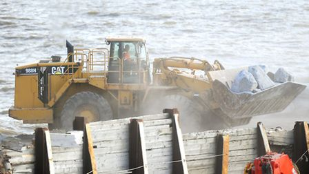 Work on a massive project being led by Bourne Leisure to build granite groynes in the North Sea that