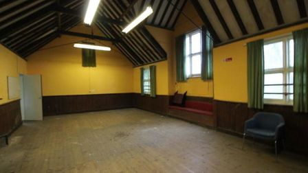 The main room inside the former church hall in the Helmingham Estate which will be converted into a